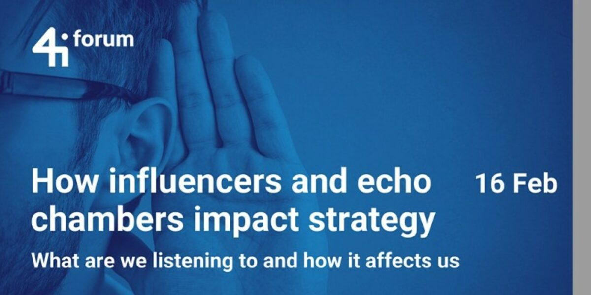 Influencers and echo chambers